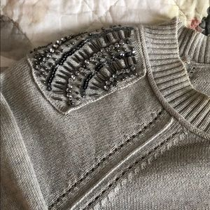 LOFT Sweaters - Loft Sweater with Embellished Shoulders
